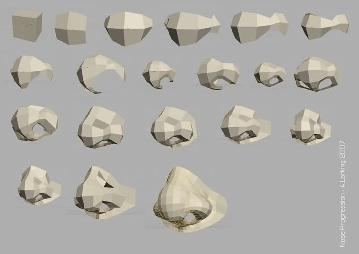 low poly nose - Google Search