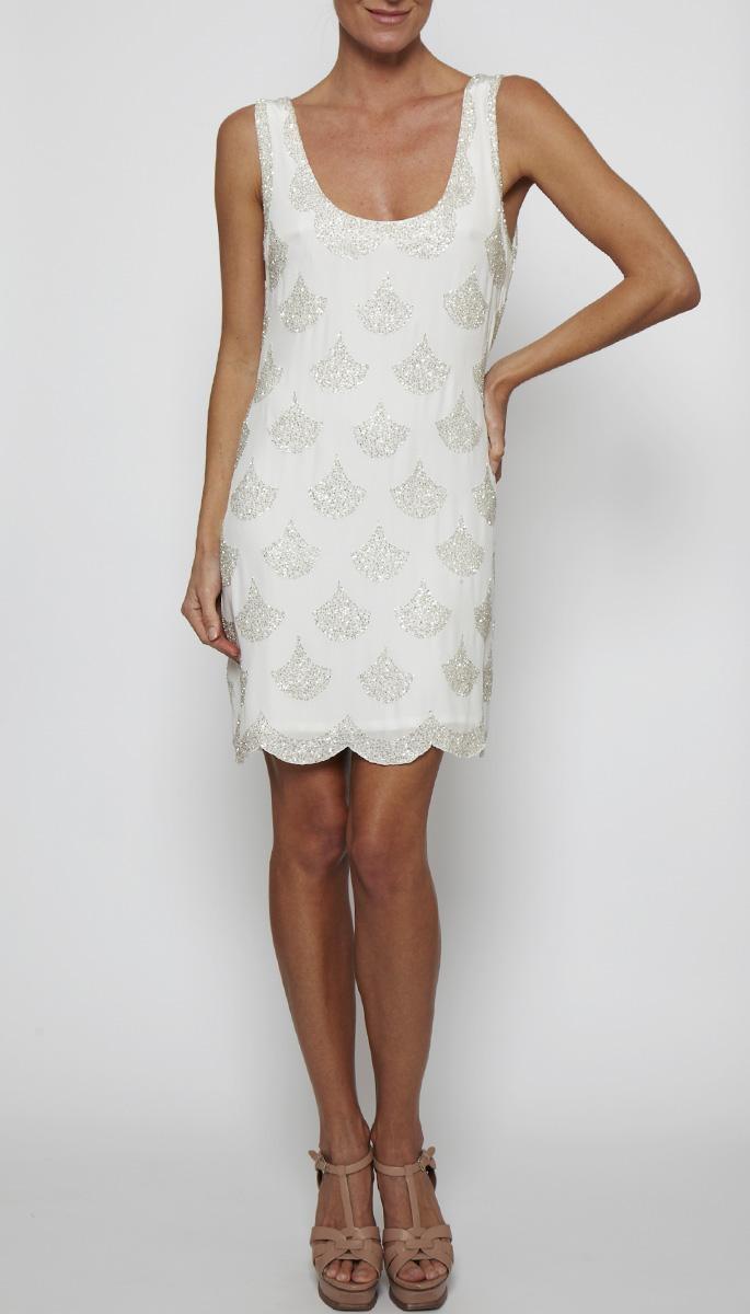 WHITE 12RG6645 | SCANDI DRESS | | Clothing | Rachel Gilbert    Short wedding gown?  Rehearsal dress?  Getaway dress?