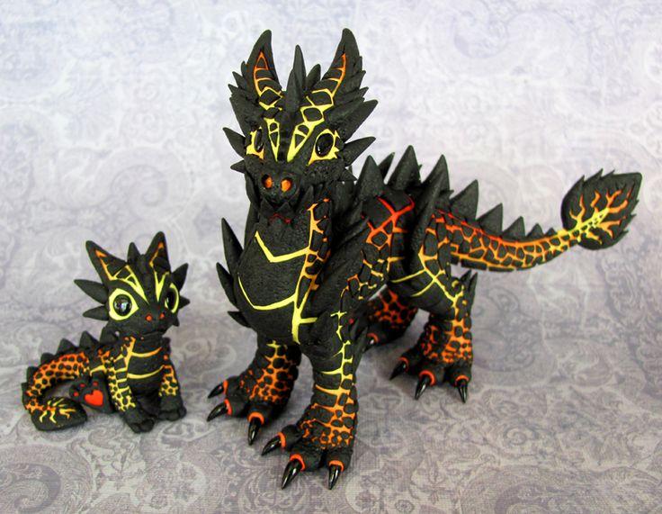 Cute magma dragons!