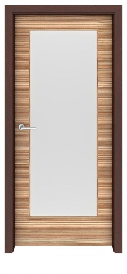 zebrawood madison glass interior door - Glass Interior Doors