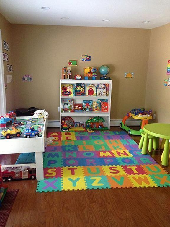 20 Fun And Cozy Kids Playroom Ideas On A Budget Homedaycarebusiness Kidsroomideas In 2020 Toddler Playroom Baby Playroom Home Daycare Decor