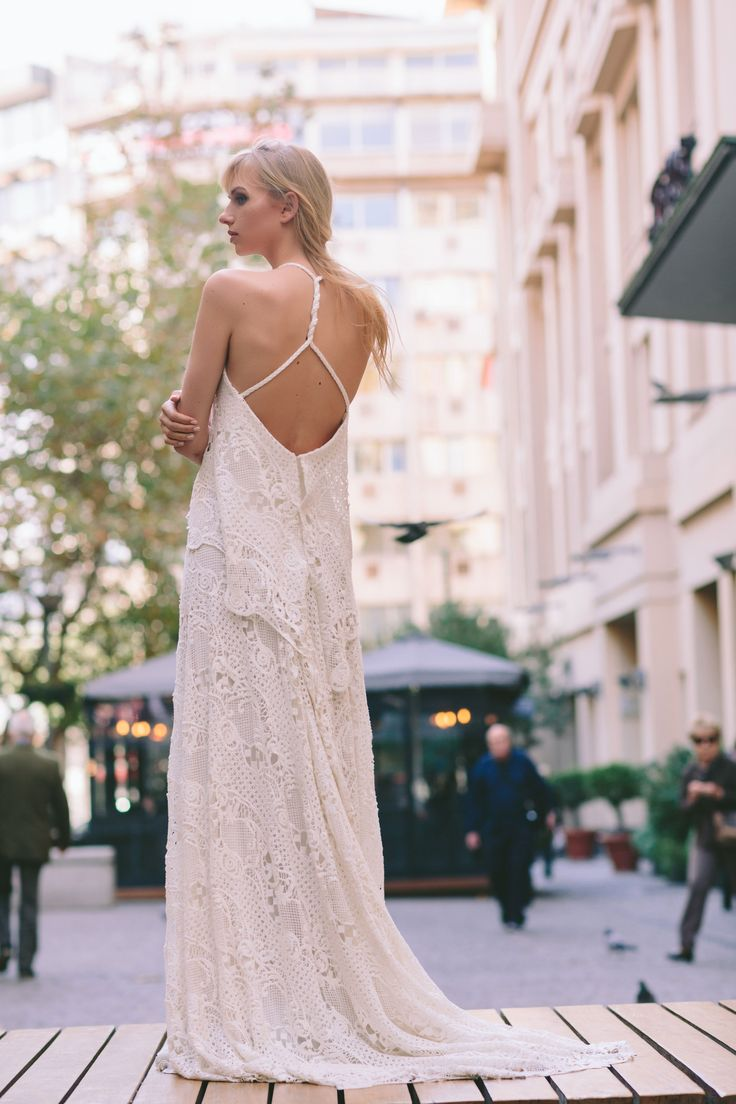 Ethereal and airy bridal fashion! Anem Collections. Dreamy bridal fashion in an amazing styleshooting in the city in the heart of Athens! Amazing bridal creations and beautiful brides! www.anemcollections.gr