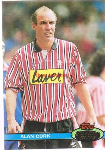 Alan Cork Sheffield United #173 Topps 1992 Stadium Club Football Card | eBay