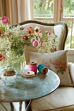 My favorite place to sit and have a cup of tea, reflect, read or snooze.................