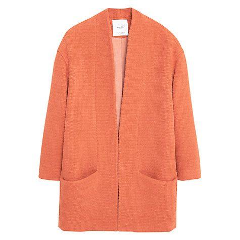 Buy Mango Cotton Coat Online at johnlewis.com
