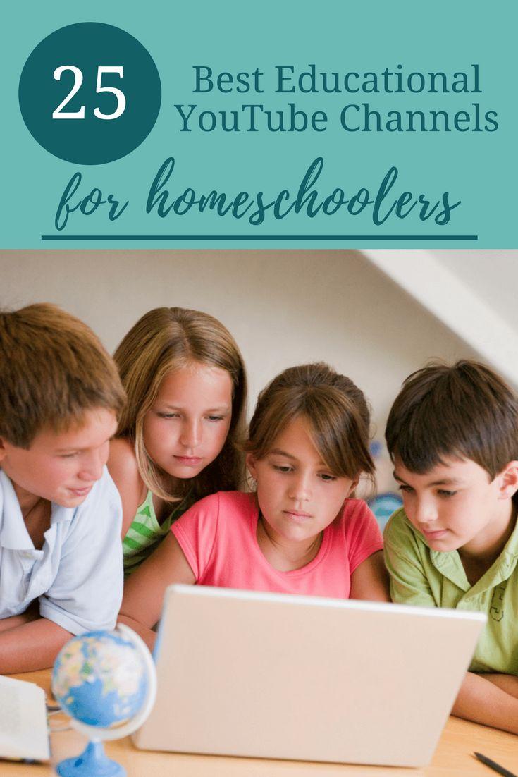 25 Best Educational YouTube Channels for Homeschoolers | Great #homeschool resource