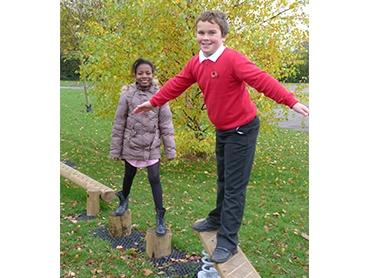 Adventure trails create a great social area for school children to play and interact.