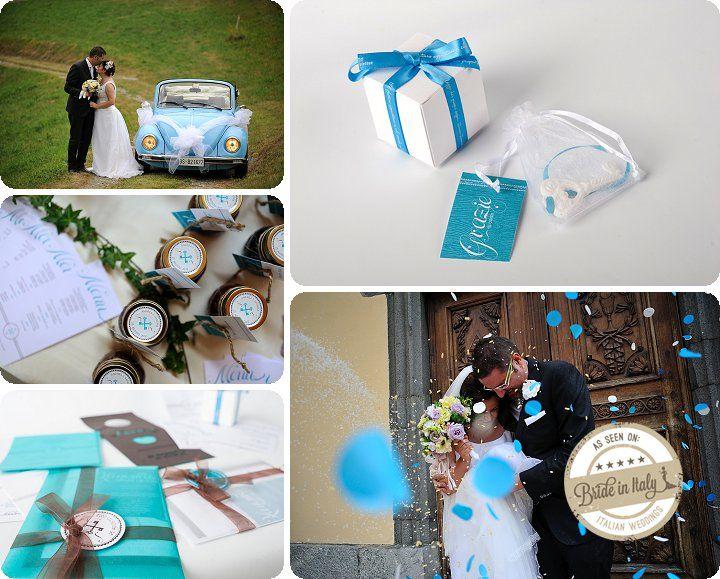 White + Tiffany blue wedding. Ph Reporter Photo http://www.brideinitaly.com/2013/12/sandra-aosta.html #italianstyle #wedding