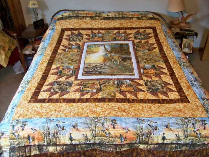 90 best Quilts with Panels images on Pinterest | Audrey hepburn ... : quilting with panels - Adamdwight.com