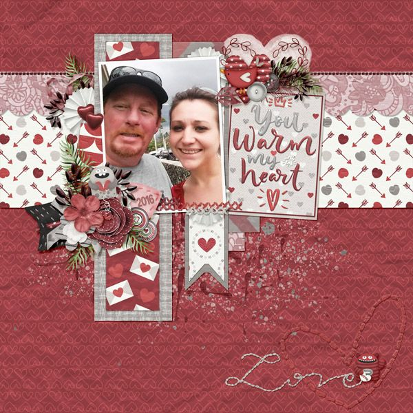 This is for Dae Design's February 2017 Scraplift Challenge.  I lifted the Fabulous Love You by Betsyfru.  I used Be My Valentine by Dae Designs.