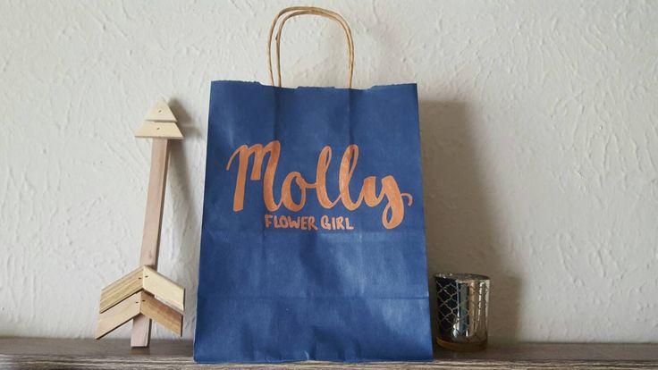 Bridal Party Title Gift Bag, Personalized Gift Bag, Custom Gift Bag, Wedding Favor Gift Bag, Bachelorette Party Gift Bag, Craft Paper Bag by ArtOfWordsBoutique on Etsy