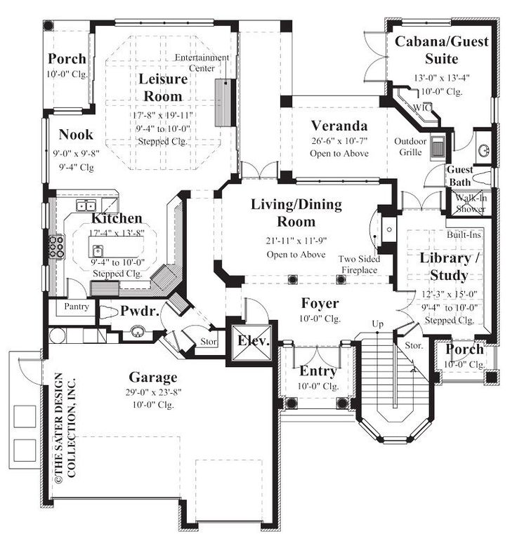 21 best french country house plans the sater design for Sater design house plans