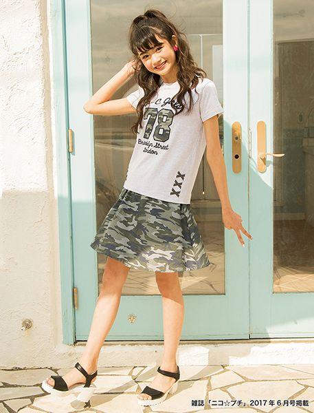 ニコ☆プチ 2017年6月号掲載コーディネート - コーディネート | BLUECROSS girls(ブルークロス ガールズ) 公式通販 - ナルミヤオンライン