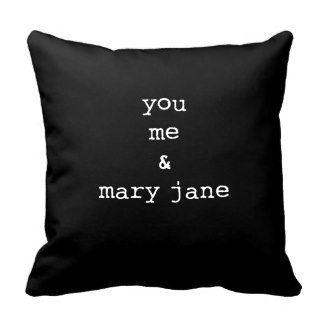 cannabis marijuana pot 420 mary jane pillow by BlueMojoDesigns
