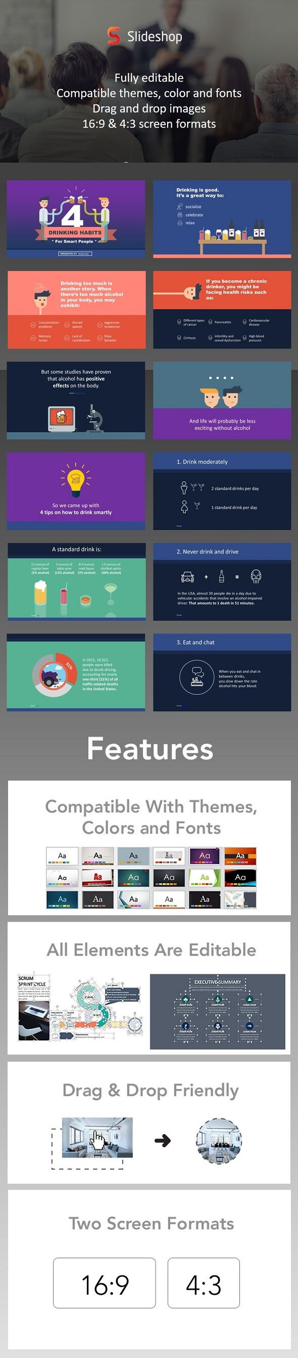493 best businesses powerpoint presentation images on pinterest 4 drinking habits for smart people toneelgroepblik Image collections