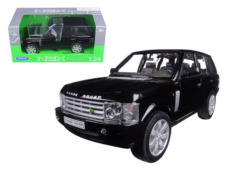 2003 Land Rover Range Rover Black 1/24 Diecast Model Car by Welly - Brand new 1:24 scale diecast model car of 2003 Land Rover Range Rover Black die cast car model by Welly. Brand new box. Rubber tires. Detailed interior, exterior. Has opening hood and doors. Made of diecast with some plastic parts. Dimensions approximately L-8, W-3, H-3.25 inches. Please note that manufacturer may change packing box at anytime. Product will stay exactly the same.-Weight: 2. Height: 6. Width: 11. Box Weight…