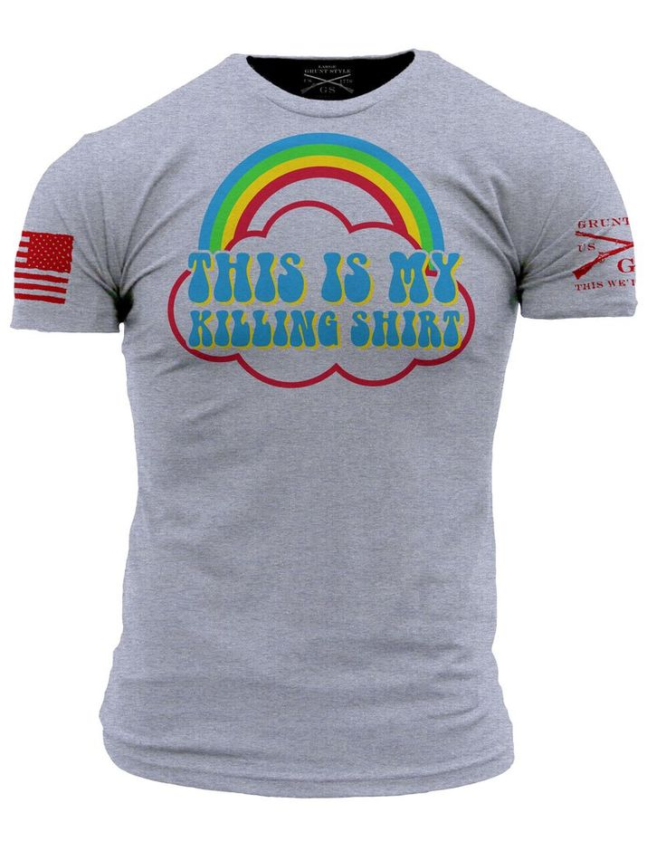 A cheerful shirt to wear while you're cracking skulls.   $19.95 on GruntStyle.com Made in America.