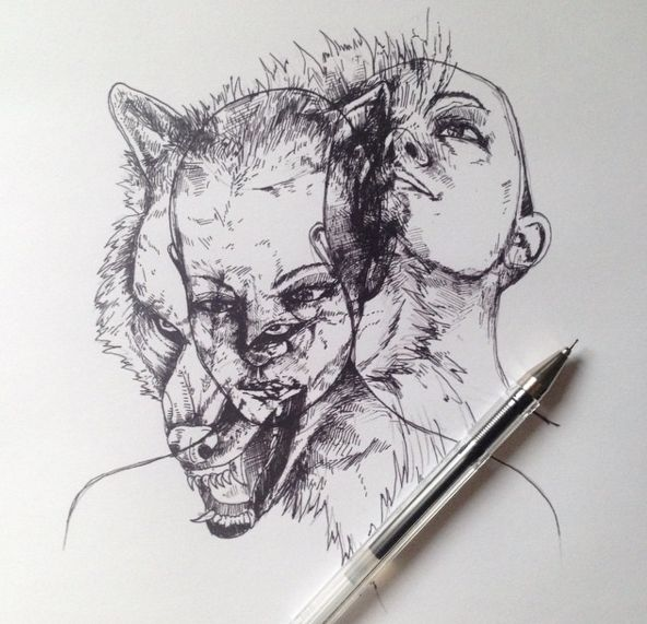 Awesome surreal drawings pen by alfred basha
