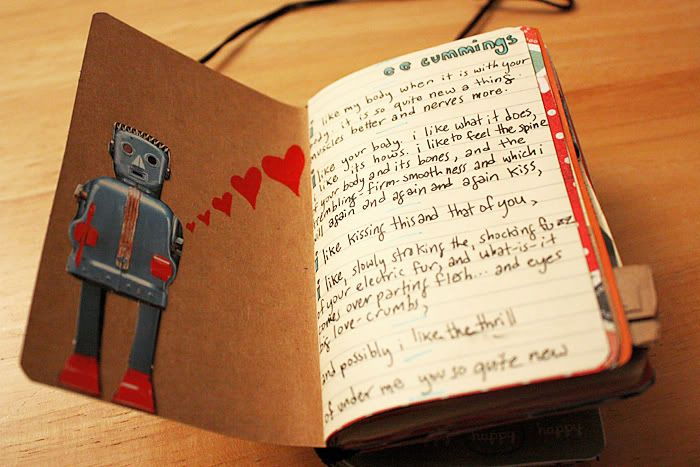 Cute idea called a 'boyfriend book' or 'boyfriend journal.' I really want to do this for Curtis for our one-year anniversary in a few months.