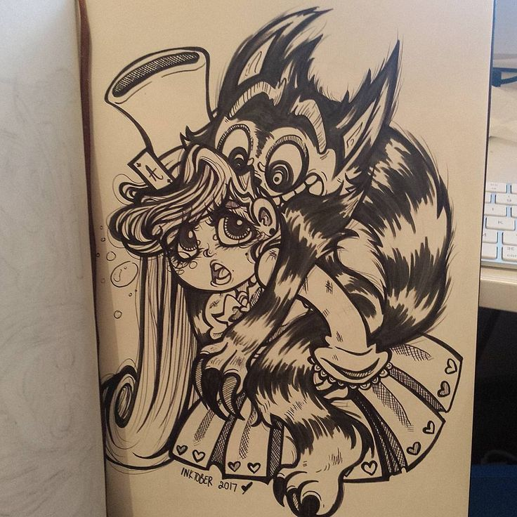 Alice in wonderland themed inktober