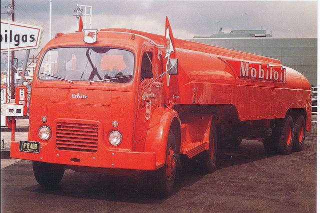 White 3000 Mobil Oil Tank Truck