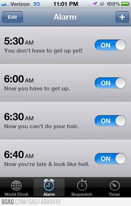 Yep. Effin true.: Alarm Clock, Mornings Routines, My Life, So True, So Funny, Hair, Totally Me, Single Mornings, Life Everyday