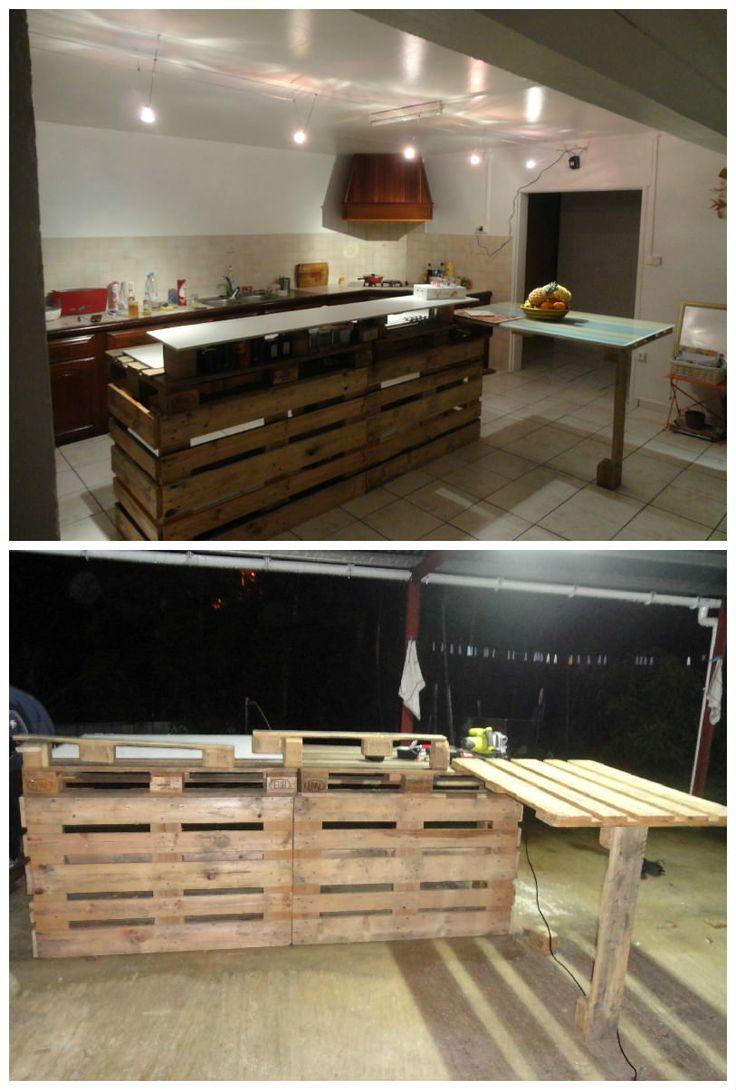 pallet kitchen countertop paletten m bel pinterest paletten m bel europalette und selfmade. Black Bedroom Furniture Sets. Home Design Ideas