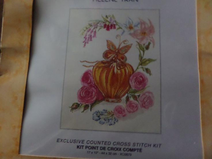 Cross stitch kit with vase,roses and butterfly by MaddisonsRainbow on Etsy