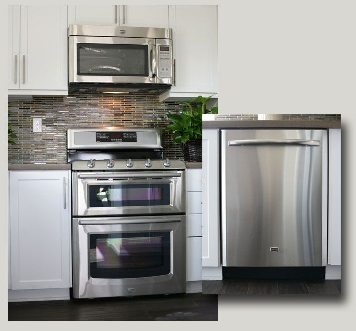 (Res1) UPGRADED MAYTAG APPLIANCE PACKAGE   We Showcase An Upgraded Maytag  All Stainless Steel Appliance Package Including The 30