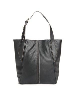 Textured Belt Shopper