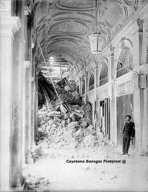 Derrumbe del Campanile. 14/07/1902. Plaza San Marcos, Venecia. www.muranopassion.com
