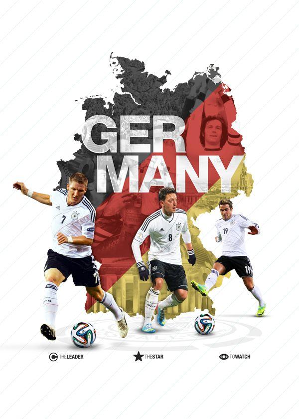 Germany World Cup 2014 - Teams by E S, via Behance