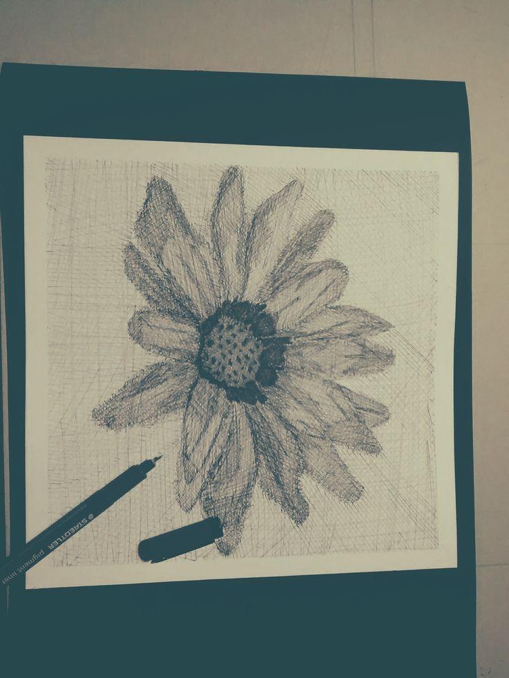 Flor - Técnicas de representación Gráfica  Técnica- achurado