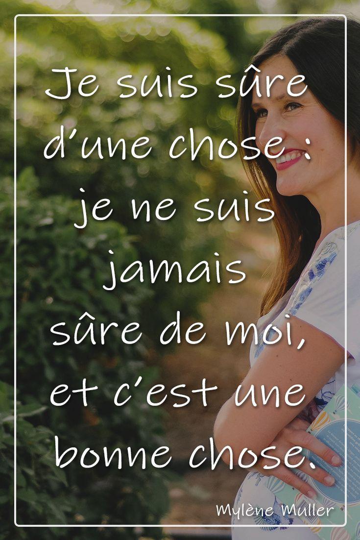 Je Suis Sure De Moi : Citation, Inspirante, Coaching, Citations, Inspirantes,, Messages, Inspirants