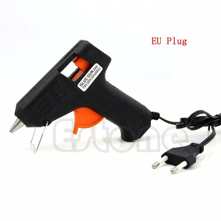 LA UE tapa 20 W Calefacción Eléctrica Hot Melt Pegamento Pistola Sticks Gatillo Art Craft Repair Tool Envío gratis