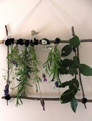 hanging nature sculpture