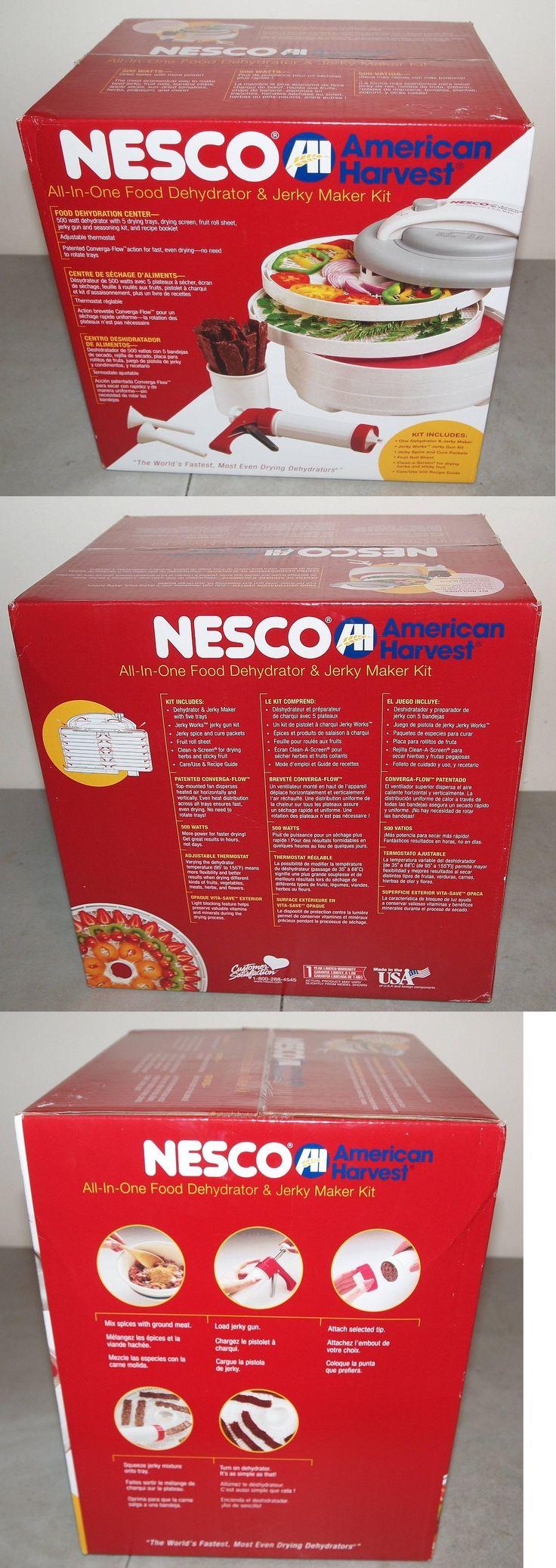 Food Dehydrators 32883: New!! Nesco (#Fd-61Whc) Food Dehydrator All-In-One Kit With Jerky Maker -> BUY IT NOW ONLY: $49.99 on eBay!