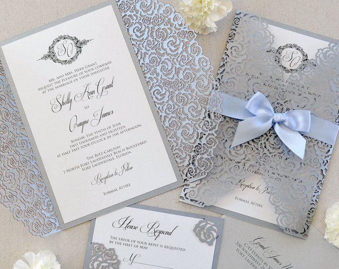 Clear Wedding Invitations: MADISON Acrylic Wedding Invitation