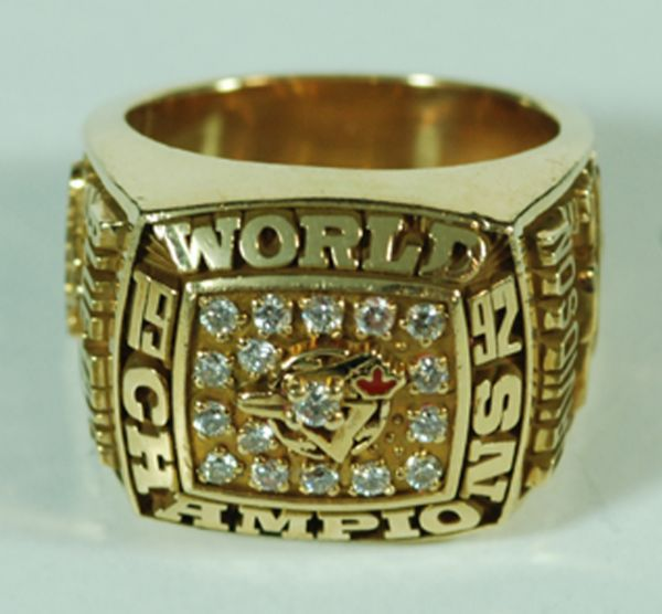 1992 Toronto Blue Jays World Series Front Office Ring