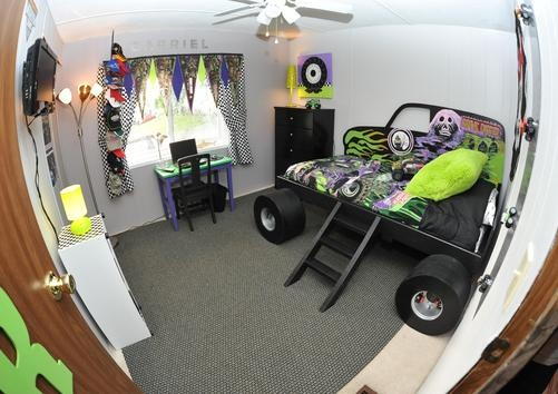 monster truck room my boy would love this