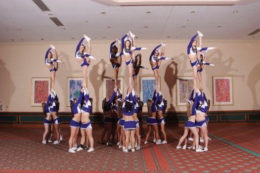 cheer bow and arrow stunt | cheer zone | Pinterest