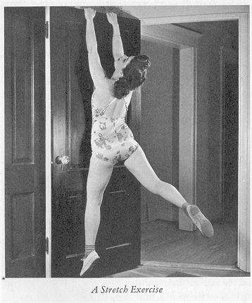 Hang from the top of a door to stretch.