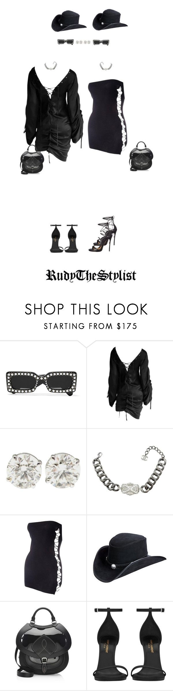 """""""Clearmont twins"""" by rudythestylist ❤ liked on Polyvore featuring Gucci, Tom Ford, Chanel, Jean-Paul Gaultier, Overland Sheepskin Co., Maison Margiela, Yves Saint Laurent and Dsquared2"""