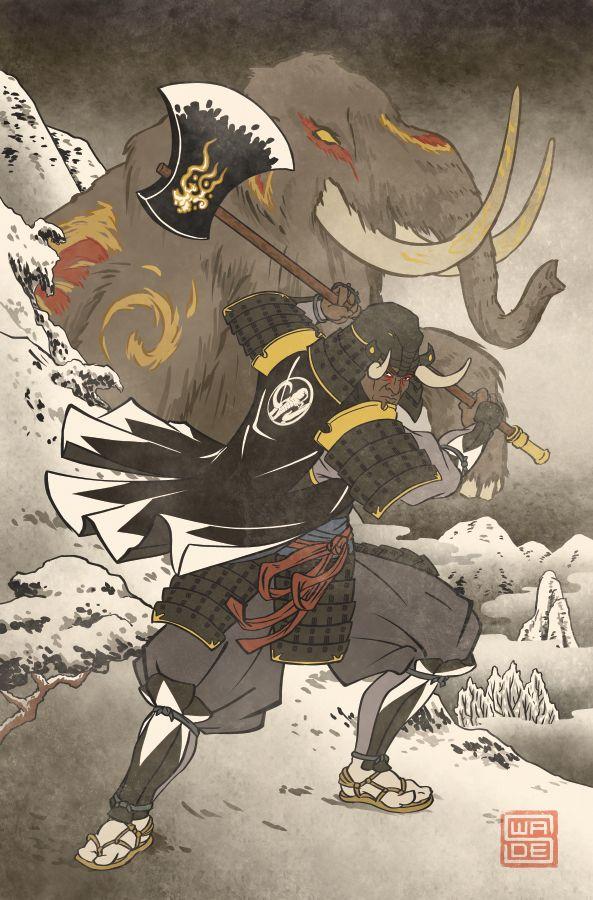 Ukiyo-e Black Ranger - MMPR Comic Variant Cover by swadeart on DeviantArt