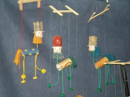 Artesania con material reciclado marioneta hecha con - Manualidades con hilo ...