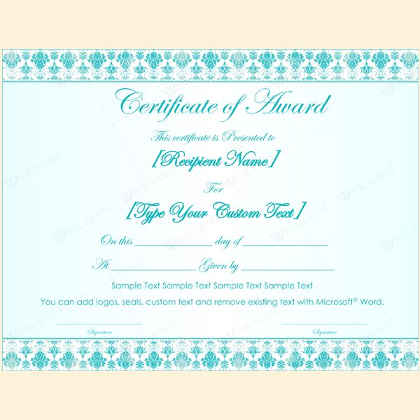 99 Best Award Certificate Templates Images On Pinterest Award   Microsoft  Certificate Of Excellence  Microsoft Certificate Of Excellence