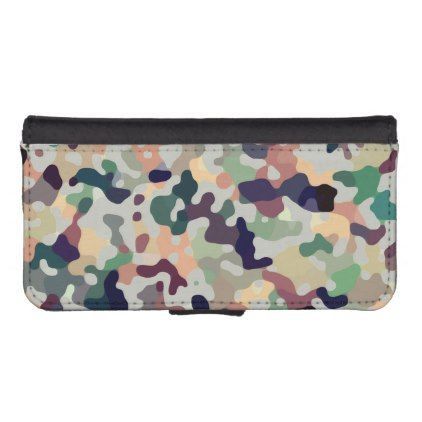 Multicolored Camo Pattern iPhone SE/5/5s Wallet - #chic gifts diy elegant gift ideas personalize