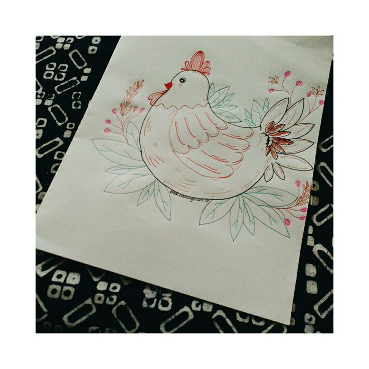 Cockychick -Pen on paper- (September 2017) #artdrawing