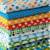 FQ Bundle Cottons: Spot On / Sunshine Clolourway, 13 Fabrics