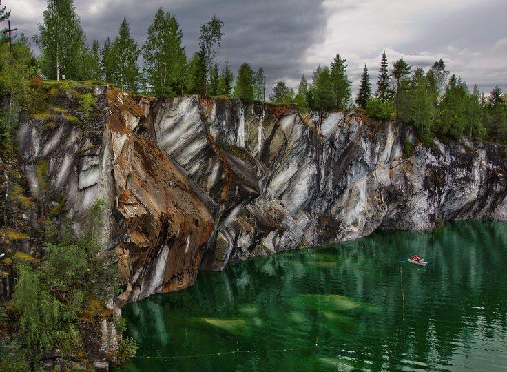 Marble Lake in Ruskeala, Russia